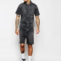 ASOS Denim Boiler Suit at asos.com