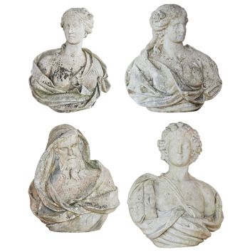 Early 18th Century Set of Four Marble Busts