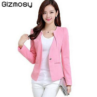 Spring Women Slim Blazer Coat 2016 New Fashion Casual Jacket Long Sleeve One Button Suit Ladies Blazers Work Wear BN1005BN