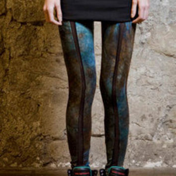 25%OFF Hand dyed printed legging S , M and L