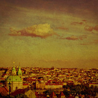 Prague Sunset - Vintage Art Print by Ann B. | Society6