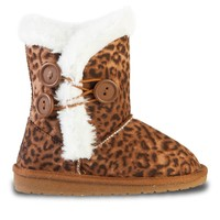 Toddlers' 3-Button Microfiber Boots - Leopard (Special Offer)