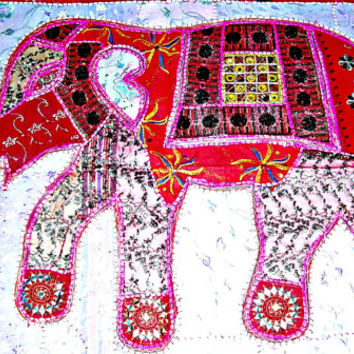 Indian wall hanging elephant tapestry, elephant wall hanging elephant wall art wall decor indian home decor indian table runner table cloth