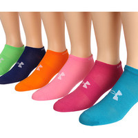 Under Armour Brights No Show Liner 6-Pair Pack BRT/AST - Zappos.com Free Shipping BOTH Ways