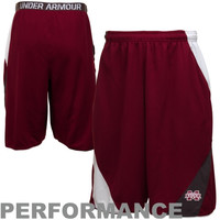 Under Armour Mississippi State Bulldogs Clipper Performance Shorts - Maroon