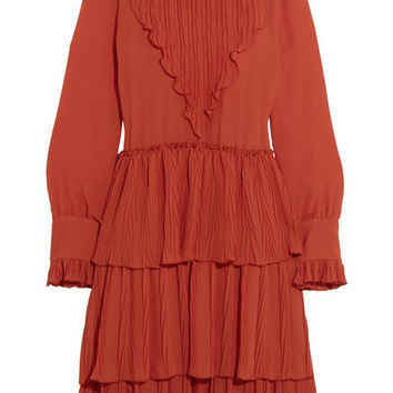 See by Chloé - Tiered ruffled chiffon dress