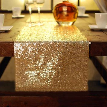 Sparkly Sequins Table Runner Luxury Sliver/Gold/Red Tablecloth For Wedding Party Event Home Decoration 30X274cm