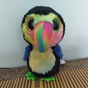 New Hot 15cm Ty Beanie Boos Original Big Eyes Penguin Plush Toy Staffed Doll Children Birthday Gift Penguin And Owl Ty Toy Baby