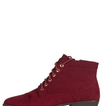 Suede Laced Up Pointy Ankle Boots - 5.5