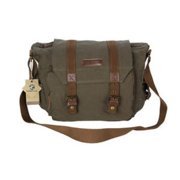 Koolertron Vintage Canvas DSLR Camera Bag Insert Case Bag Shoulder Messenger Bag