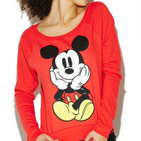 Mickey Front & Back Sweatshirt | Wet Seal
