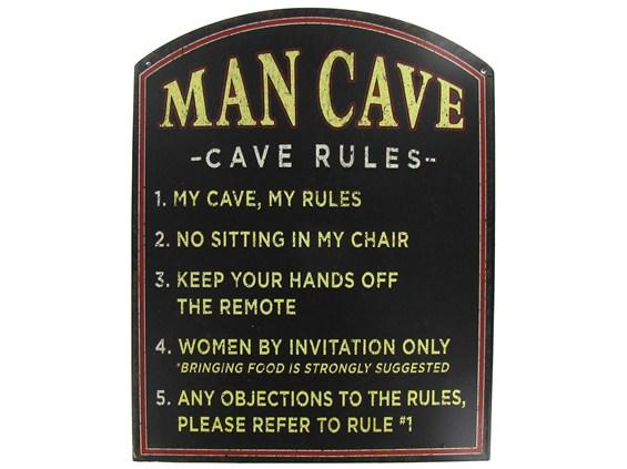 Stores That Sell Man Cave Signs : Man cave rules tin sign shop hobby from lobby for my