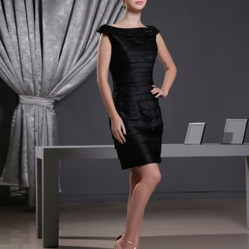 Maphia Cocktail Dresses 2017  Taffeta Scoop Neck Special Occasion Custom Made Mini Very Sexy Dress