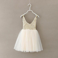 Baby Girls And Toddlers  Sequin Sparkle Tulle Ball Gown