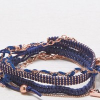 AEO Women's Navy & Rose Gold Bracelet Set (Multi)