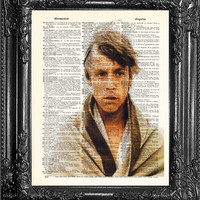 Luke Skywalker Star Wars Art Print-Star Wars POSTER Print-Gift for friend Gift Man-BIRTHDAY Gift Boyfriend-Home Decor-Star Wars Movie