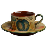 Frutta Laccata Teacup with Round Saucer