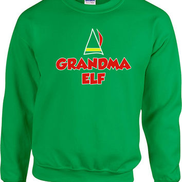 Funny Christmas Sweater Grandma Elf Sweater Grandma Sweatshirt Ugly Xmas Sweater Christmas Presents Holiday Season Unisex Hoodie - SA476