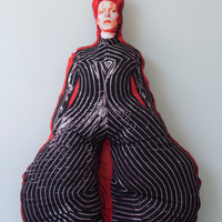 Lifesize David Bowie Pillow Doll - Soft Sculpture Bowie Art