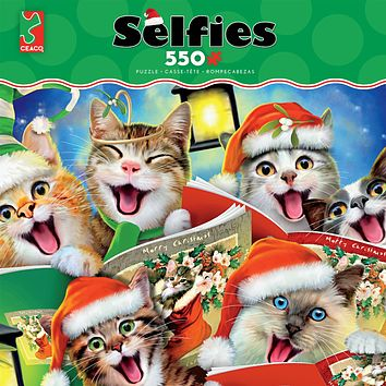 Ceaco Selfies Christmas Caroling Kitties 550 Piece Jigsaw Puzzle