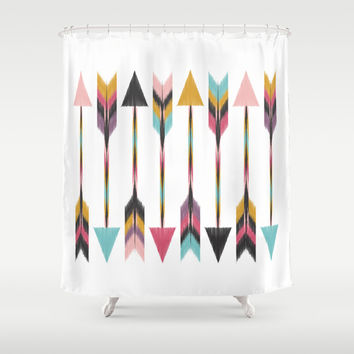 Bohemian Arrows Shower Curtain by Bohemian Gypsy Jane