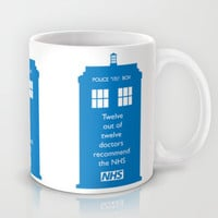 Hands of our NHS doctor Who style Mug by Purshue Feat Sci Fi Dude