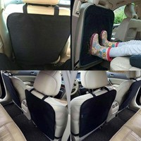 1PC Luxury Black Kick Mats Car Seat Back Protectors Cover Pad Universal Washable