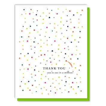 One and a Million Thanks Card