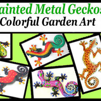 Gecko Wall Art - Indoor or Outdoor Wall Decor - Garden Art