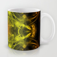 Orange & Yellow Smoke Art Mug by Karl Wilson Photography