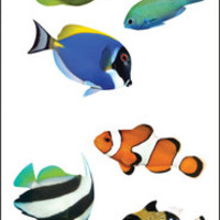 "Mrs. Grossman's Tropical Fish Stickers - 6.5"" x 2"""