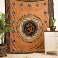 Om Indian Tapestry - Earth Tone