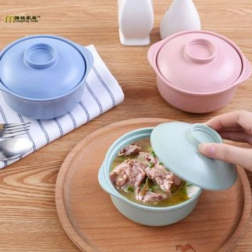 1PC Longming Home restaurant kaiteen bar tableware miso soup bowl with lid soup cup bowl melamine plastic tableware LF 132