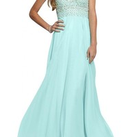 Gorgeous Bridal Sweetheart Empire Chiffon Long Dress Evening Prom Gown