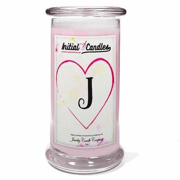 Letter J Initial Candles