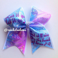 Frozen Elsa the Snow Queen/Anna inspired cheer bow/let it go