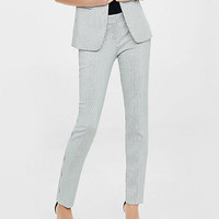 low rise pinstripe columnist ankle pant