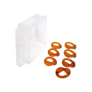Pre-owned Modern Lucite Pitcher & Orange Twist Napkin Rings