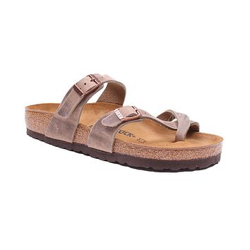 Women's Mayari Sandal in Tobacco Oiled Leather by Birkenstock