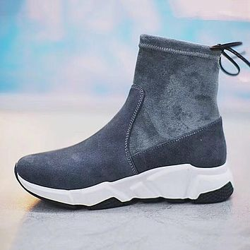 Balenciaga Women Fashion Stretch Fabric Socks Boots Sneakers Sport Shoes