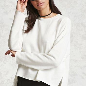 Boxy French Terry Sweatshirt