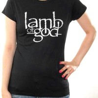 Lamb Of God Girls T-Shirt - Logo