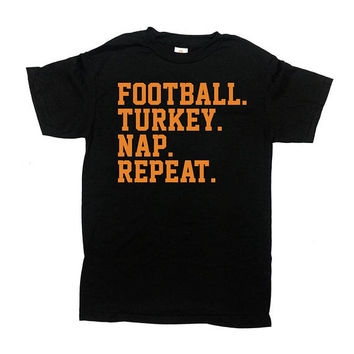 Funny Thanksgiving Shirt Football T Shirt Holiday Clothes Turkey Day Thanksgiving Outfit Football Dad TShirt Holiday Gift Mens Tee - SA853