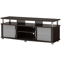 Contemporary TV Stand  in Dark Brown Chocolate Finish