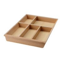 RATIONELL Flatware tray basic unit, beech - IKEA