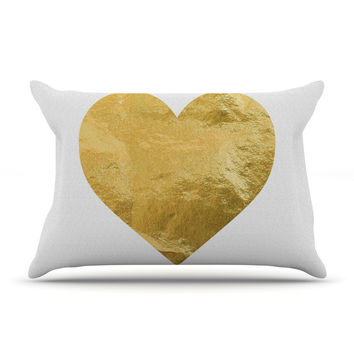 "KESS Original ""Heart of Gold"" Pillow Case"