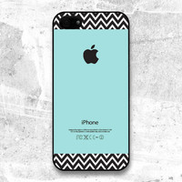 iPhone 5 Case  Chevron pattern on Tiffany Teal color  by evoncase