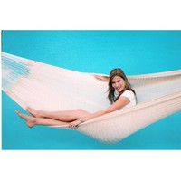 13-Ft Handmade Yucatan Style Hammock in Natural Beige