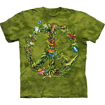 Rainforest Peace Sign Animals Kids T-Shirt
