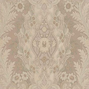 Brewster Wallpaper 2537-M3936 Cristoforo Grey Ornamental Crewel Stripe